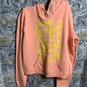 AMERICAN EAGLE Girls Hoodie Small pink